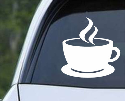 Coffee Cup Die Cut Vinyl Decal Sticker