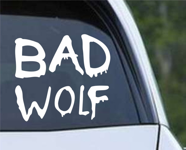 Doctor Who Bad Wolf Graffitti Die Cut Vinyl Decal Sticker - Decals City