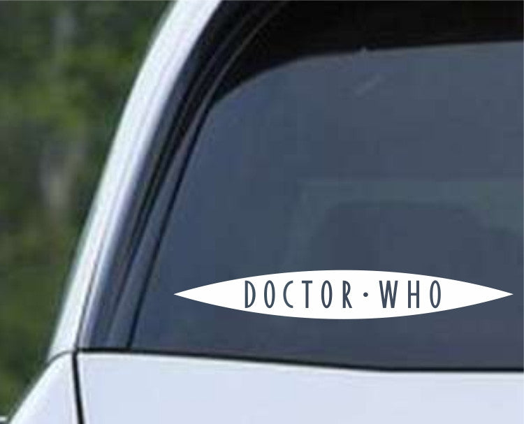 Doctor Who Logo Slit Die Cut Vinyl Decal Sticker SET OF TWO - Decals City