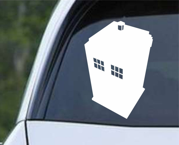 Doctor Who - Tardis Silhouette Die Cut Vinyl Decal Sticker - Decals City