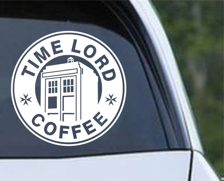 Doctor Who - Time Lord Coffee Die Cut Vinyl Decal Sticker - Decals City
