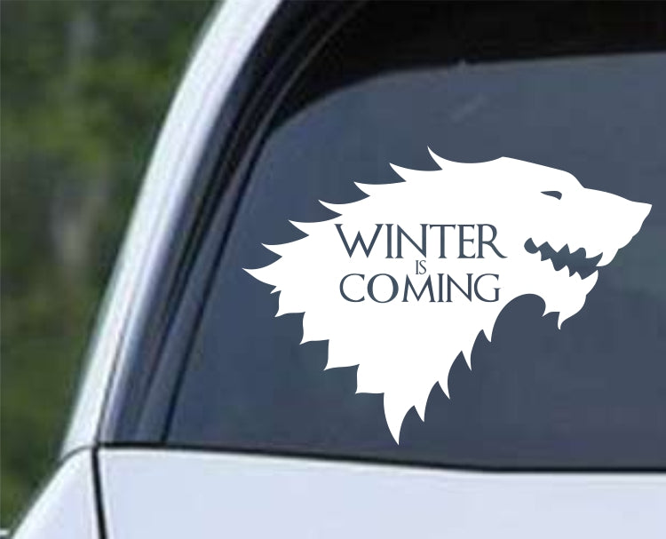 Game of Thrones House Stark Direwolf ver b Die Cut Vinyl Decal Sticker - Decals City