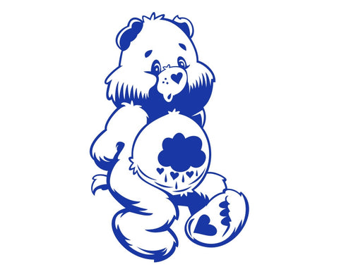 Grumpy Care Bear Cartoon Die Cut Vinyl Decal Sticker - Decals City