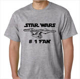 Star Wars (Star Trek Parody) Number One Fan Funny Custom Made T-Shirt - Decals City