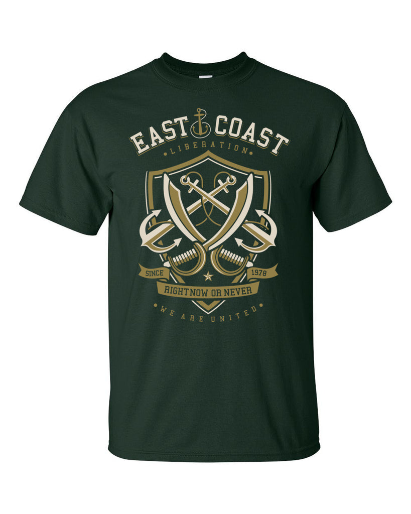 East Coast Liberation Short Sleeve T-Shirt up to 5XL - Decals City
