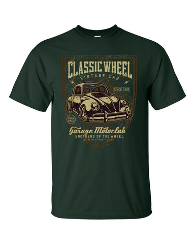 Classic Wheels Volkswagen Short Sleeve T-Shirt up to 5XL - Decals City