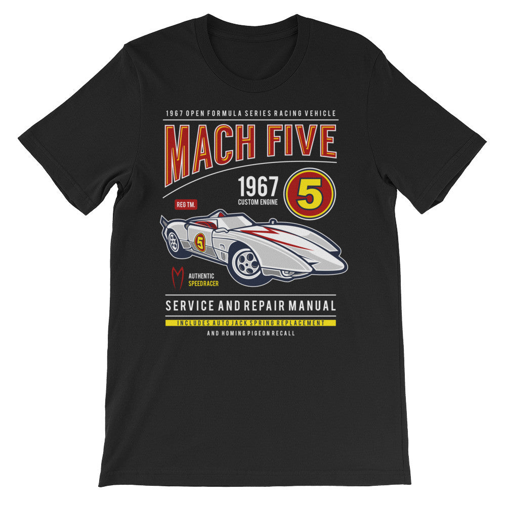 Mach Five Unisex short sleeve t-shirt - Decals City