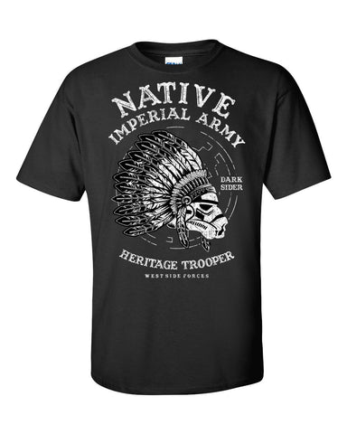 Native Trooper Short Sleeve T-Shirt up to 5XL