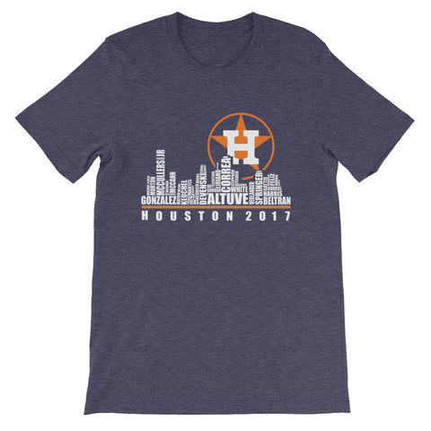 Astros Houston Skyline Short-Sleeve Unisex T-Shirt