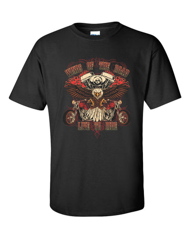 Live to Ride - Winds of the Road Short Sleeve T-Shirt up to 5XL