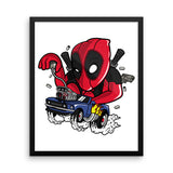 Deadpool Race Framed poster - Decals City