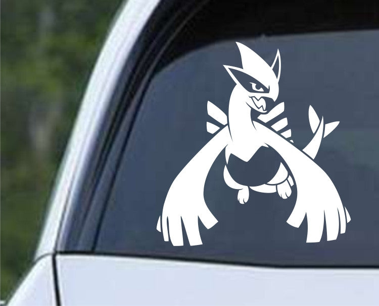 Pokemon Lugia Legendary Silver Die Cut Vinyl Decal Sticker - Decals City