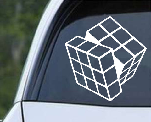 Rubiks Cube Die Cut Vinyl Decal Sticker