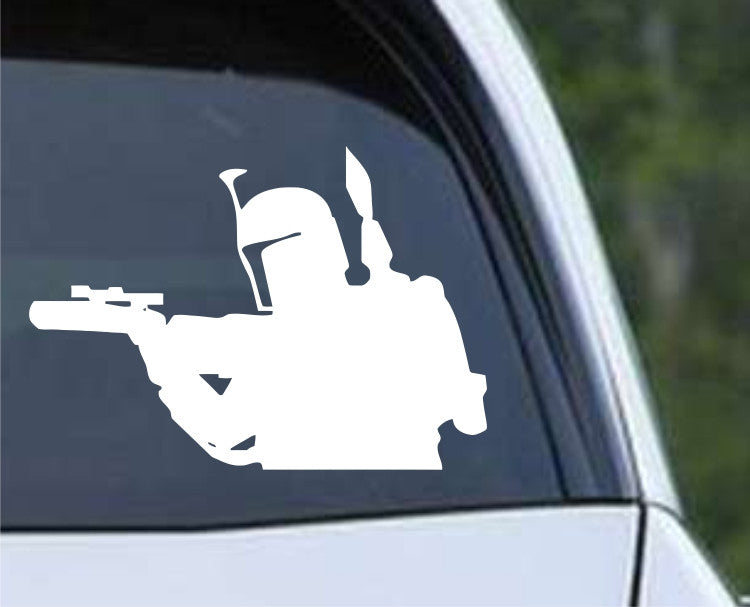 Star Wars - Boba Fett Shooting Die Cut Vinyl Decal Sticker - Decals City