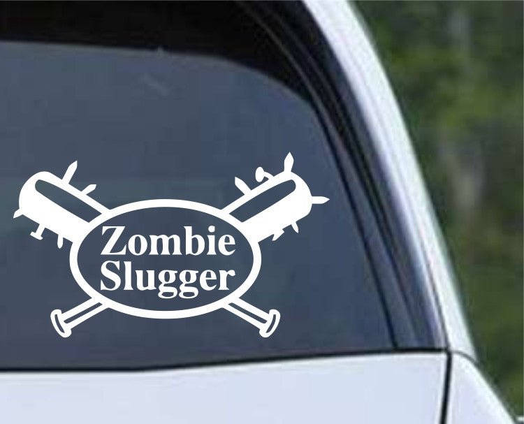 Zombie Slugger Die Cut Vinyl Decal Sticker - Decals City