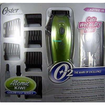 Oster AZTEQ 15 Piece Clipper SetCuts Wet or Dry