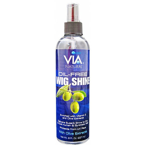 Via Natural Oil Free WIG SHINE - 8oz spray