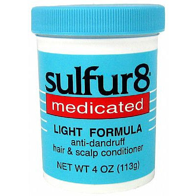 sulfur8 medicated light formula anti-dandruff blue jar 4oz jar