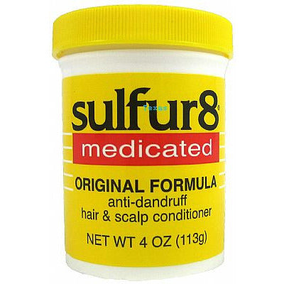 sulfur8 medicated ORIGINAL FORMULA scalp conditioner - 4oz yellow jar