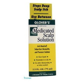 Glovers Medicated Scalp Solution - 2.5oz