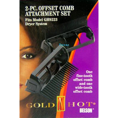 Goldn Hot 2-PC Offset Comb Attachment Set for GH9223 # 9365R