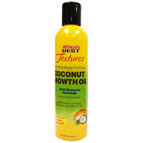 Africa's Best Textures Coconut Growth oil Anti-Dryness Remedy - 8oz