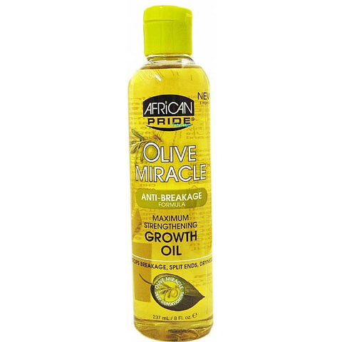 African Pride Olive Miracle AntiBreakage Growth Oil - 8oz bottle