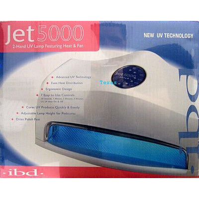 IBD Jet 5000 - deluxe two handed UV Lamp featuring heat & fan