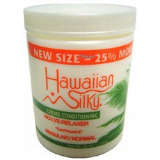 Hawaiian Silky Creme Conditioning No Lye Relaxer - 20oz jar