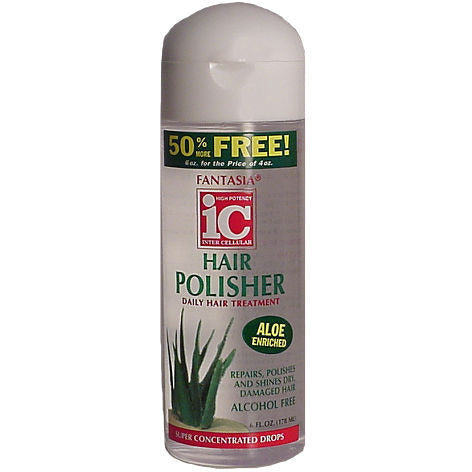 Fantasia IC HAIR POLISHER Daily Hair Treatment - 6oz clear bottle