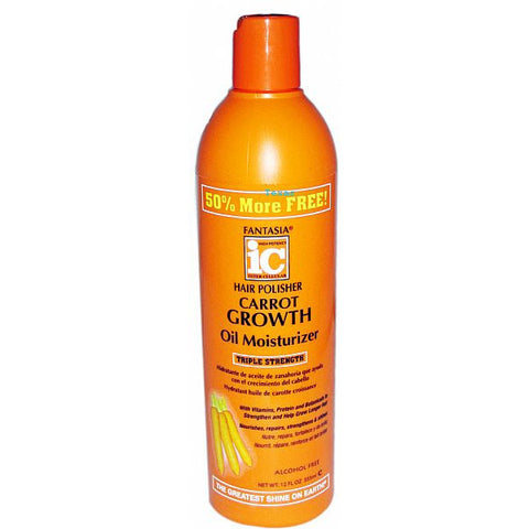 Fantasia IC Hair Polisher Carrot Growth Oil Moisturizer - 12oz bottle #3075