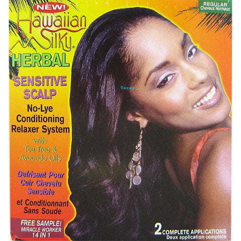 Hawaiian Silky HERBAL NoLye Relaxer System KIT - 2 Application