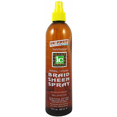 Fantasia Herbal Vitamin Braid Sheen Spray - 12 oz spray