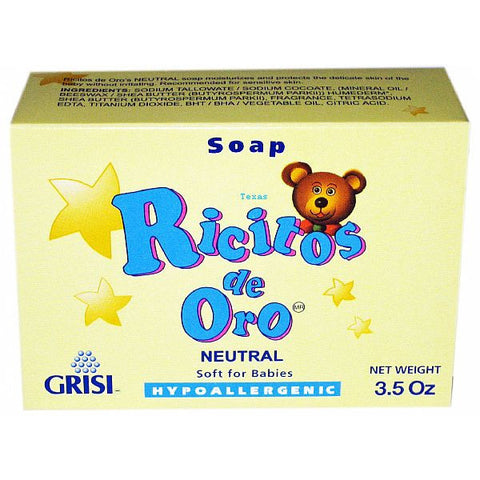 Grisi Ricitos De Oro Hypoallergenic Soft for Babies Neutral Soap - 3.5oz bar #838