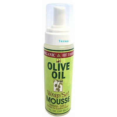 Organic Root Stimulator OLIVE OIL WRAP and SET MOUSSE - 7oz foam