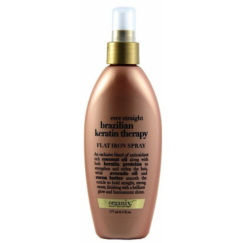Organix Brazilian Keratin Therapy Flat Iron Spray - 6oz bottle
