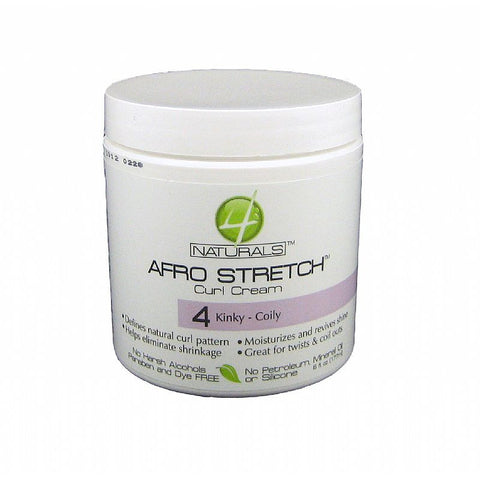 4 Naturals Afro Stretch Curl Cream - 6oz jar