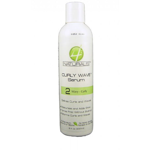 4 Naturals Curly Wave Serum Wavy Curly - 8oz bottle