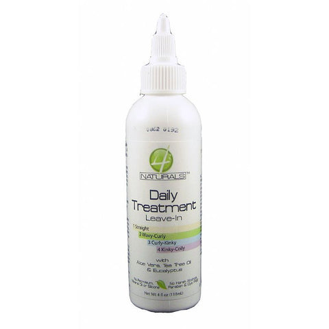 4 Naturals Daily Treatment Leave In - 4oz bottle