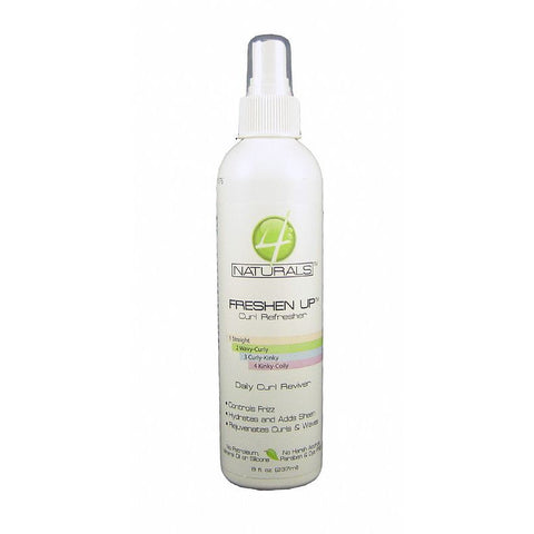 4 Naturals Freshen Up Curl Refresher Daily Curl Reviver - 8oz spray