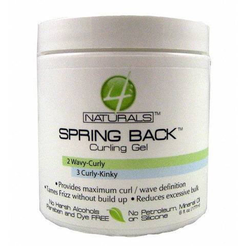 4 Naturals Spring Back Curling Gel - 6oz jar
