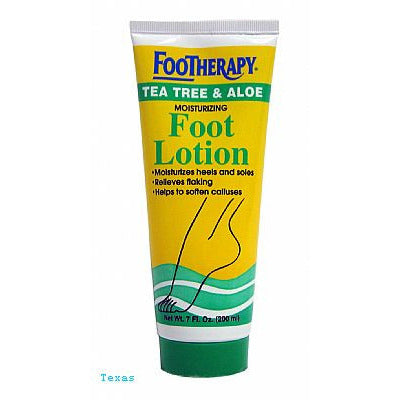 FOOTHERAPY Tea Tree & Aloe FOOT LOTION - 7oz tube