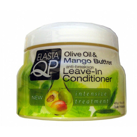 Elasta QP Olive Oil and Mango Butter Leave In Conditioner - 15oz jar