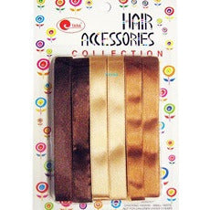 Hair Ribbon - 6 earthtone color hair ribbons - # 6 #