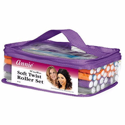 "Annie Soft Twist Roller Set 10"" long/ 42 pcs"