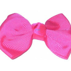 Hair Bow - small solid color cloth hairbow #SL1650A