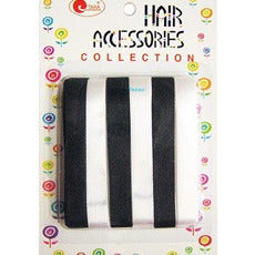 Hair Ribbon - 6 black white color hair ribbons - # 8 #