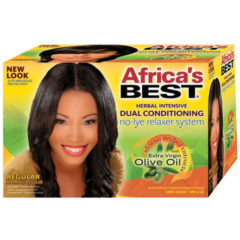 Africa Best NO LYE Dual Conditioning Relaxer System kit