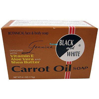 Black and White CARROT OIL SOAP - 6.1oz