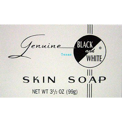 Black and White SKIN SOAP - 3.5oz white box